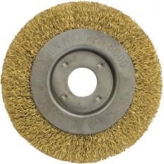 Корщетка-колесо  желтая 125 мм арт. 39065