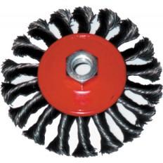 Корщетка-колесо 100 мм витая,с наклоном, гайка М 14 арт. 39114