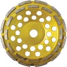 Диск алмазный шлифовальный, двойной ряд, 125 мм. арт. 39517