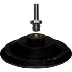 Диск шлифовальный с липучкой резиновый 125 мм гайка М14 + переходник арт. 39624