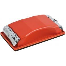 Держалка для наждачной бумаги с металл.прижимом, красная 160 х 85 мм арт. 39711