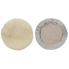 Чехол полировочный, искусственная шерсть, на тканевой основе, на завязках, 180 мм арт. 39868