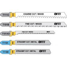 Набор полотен для электролобзика, 5 шт (T111C; T101BR; T101AO; T118A; T118B) арт. 41011