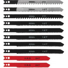 Полотна для электролобзика в пласт.корпусе, амер.хвостовик, набор 10 шт. арт. 41147