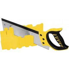 Стусло пластмассовое желтое с обушковой пилой 350 мм Профи (черно-желтая ручка) арт. 41258