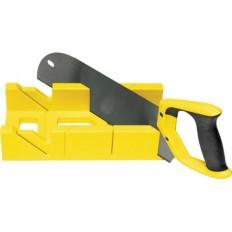 Стусло пластмассовое желтое с пилой с запилом 350 мм (черно/желтая ручка) арт. 41259