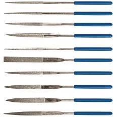 Надфили алмазные, ПВХ ручка, 3х140х50 мм, 10 шт. арт. 42171