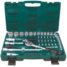 Набор инструмента автомобильный CrV, Профи, 56 шт. арт. 65156