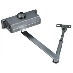 Доводчик дверной алюминиевый на стальной тяге, серый 45-65кг арт. 66272