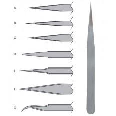 Пинцет прецизионный, немагнитный, нержавеющая сталь, Профи тип А (110х9х2 мм) арт. 67451