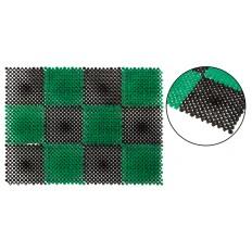 """Коврик пластиковый """"Травка"""" 410x550 мм, клетка черно-зеленая арт. 67931"""