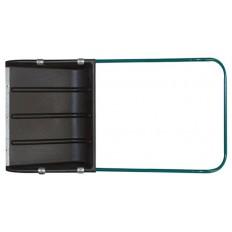 Скрепер для уборки снега пластиковый, металл.ручка 600х470 мм арт. 68133