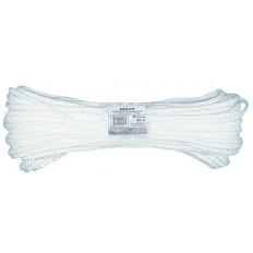Фал капроновый плетеный с сердечником 16-ти прядный,  6 мм х 20 м, р/н= 450 кгс арт. 68416