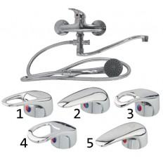 Смеситель для ванны 1-ручный тонкий изогнутый Espaso арт. 73751