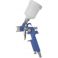 Краскопульт пневмат. HVLP c верхним пластик бачком 150мл, быстросъемное соединение арт. 81005